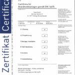 Karp GmbH Zertifikat Errichterfirma für Brandschutzmeldeanlagen