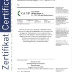 Karp GmbH Zertifikat DIN EN ISO 9001:2015 Qualitätsmanagementsystems